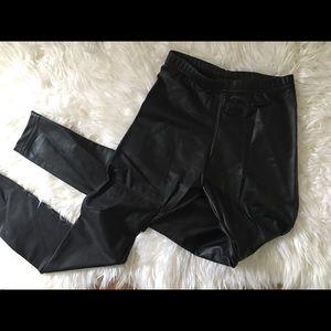 American Apparel faux leather leggings